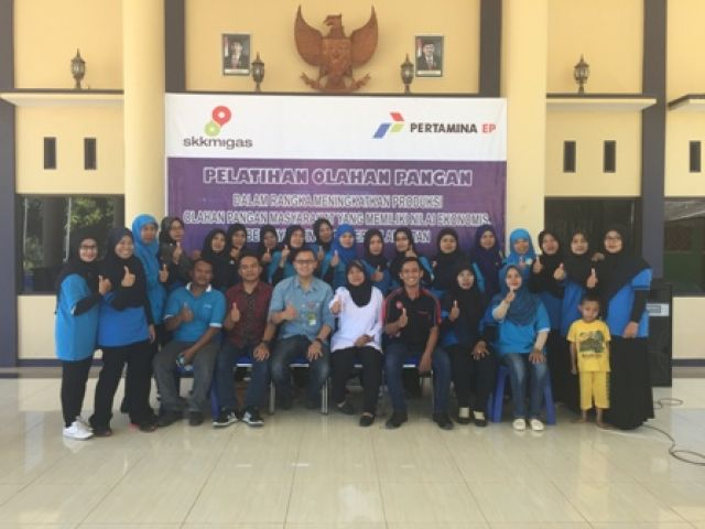 Poleng Field Berikan Pelatihan Olahan Pangan kepada Kelompok Usaha Bersama KUB Desa Doudo